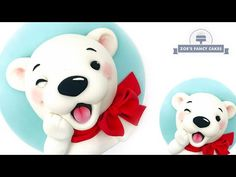 Bruce the Polar Bear is the third in a series of 6 new Christmas cake videos we have lined up before Christmas He is super happy and all set for Christ. Fondant Christmas Cake, Christmas Cake Topper, Xmas Cakes, Christmas Cakes, Christmas Treats, Christmas Baking, Winter Christmas, Fondant Flower Cake, Fondant Bow