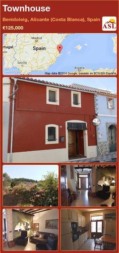 Townhouse in Benidoleig, Alicante (Costa Blanca), Spain ►€125,000 #PropertyForSaleInSpain
