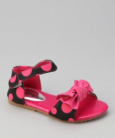 Take a look at this Fuchsia Apple-77 Polka Dot Sandal - Toddler by QQ Girl on #zulily today!