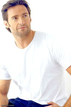 Hugh Jackman.... almost repinned this in foodstuff because he is so edible!