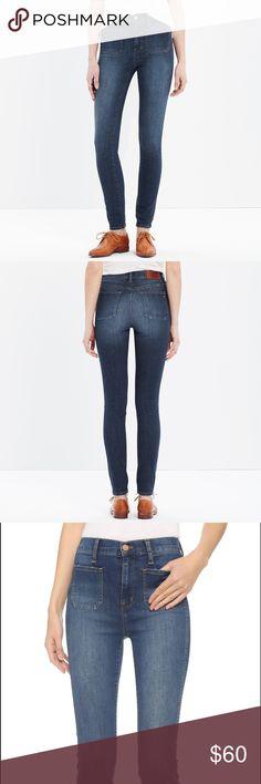 High-waisted Madewell Sailor Jean Lightly worn, high waisted jeans with square pockets. Madewell Jeans Skinny