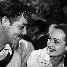 Clark Gable and Carole Lombard at an MGM picnic, 1938.