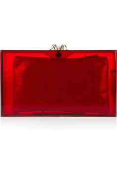 Gorgeous red clutch purse.