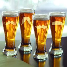 Enjoy a brew or two in this playful pilsner glass, a perfect addition to your home bar or glassware cabinet.