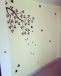 Floral Design Wall Painting Tree Mural