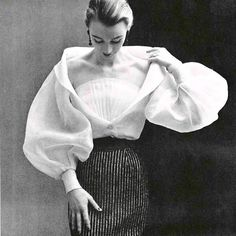 Beautiful Givenchy Blouse 1952. Will you iron it for me?
