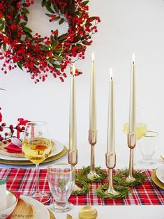 A Modern Plaid Tartan Christmas Table - traditional mixed with modern ideas to create a warm, cozy and inviting tablescape for the holidays! Christmas Tablescapes, Christmas Centerpieces, Holiday Tables, Christmas Decorations, Tartan Christmas, Christmas Holidays, Christmas Gifts, Christmas Ideas, Soul Of Light