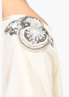 Carrie Top |embellished shoulder: in black plus add dripping beads strung