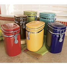 colorful kitchen canisters 1000 images about canisters on canister sets 11057