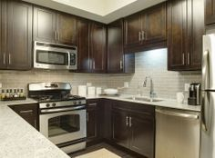 Model Kitchen At Amli River North A Luxury Apartment Community In