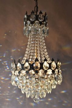 Antique Brass Chandelier, Vintage Crystal Chandelier, Handmade Chandelier, French Chandelier, Chandelier Bedroom, Chandelier Lamp, Chandelier Ideas, Shabby Chic Antiques, French Antiques