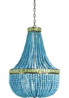 turquoise chandelier - Google Search