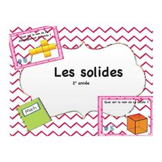 Cartes à tâches les solides Math 8, Fun Math, Teaching Math, Teaching Ideas, French Classroom, Math Classroom, Math Figures, Daily 3 Math, School Organisation