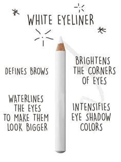 If you only want one thing that'll upgrade your makeup, invest in white eyeliner. | 21 Eye Makeup Tips Every Beginner Should Know