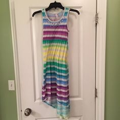 Justice Dress size 10 Colorful Justice dress with jeweled top. Justice Dresses Asymmetrical