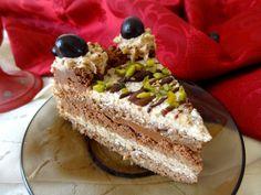 Ořechový dort s ganache a rumovo-ořechovým krémem Cheesecakes, Rum, Breakfast, Ethnic Recipes, Food, Morning Coffee, Essen, Cheesecake, Meals