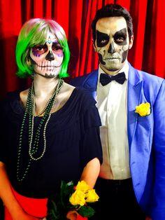 Maquiagem de casal caveira para festa - por studio paola gavazzi - #paolagavazzi