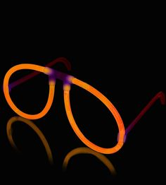 Glow Eyeglasses - Aviator - Orange - Save 10% off sitewide at GlowUniverse.com with code PIN10