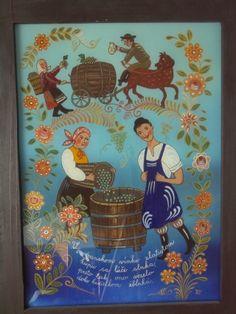 maľba na sklo V modranskom vínku... autorka Zuzana Vaňousová