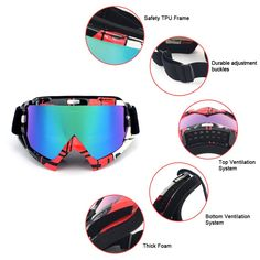 7ed4a60a8b Amazon.com  SPOSUNE Motorcycle Goggles