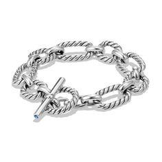 David Yurman Cushion Link Chain Bracelet ($475) ❤ liked on Polyvore featuring jewelry, bracelets, silver, david yurman, chain link jewelry, david yurman jewellery, david yurman bangle and david yurman jewelry