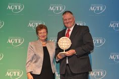 Gordon Davis, Founder & CEO of CEV Multimedia, receives the 2014 ACTE Business Leader of the Year award.