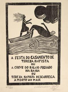 Calasans Neto. Xilogravura (1972). 42x29 cm