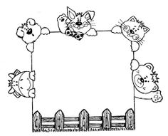 free printable farm animal frame | Farm animals Poster - free coloring pages | Coloring Pages