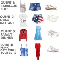 """Fourth of July Outfit Ideas!"" by queenofquirk on Polyvore"