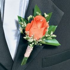 Classic Rose Boutonniere and Corsage Wedding Package 250