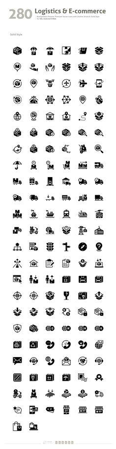 Logistics & Business E-commerce by BomSymbols on @creativemarket