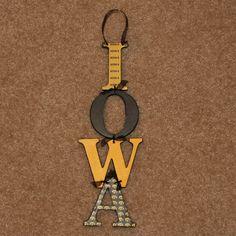 IOWA Hawkeye sign.