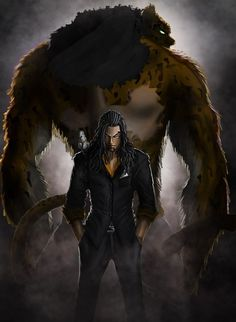 This is Rob lucci the tiger behind him is him in his transformed state and he has superhuman power and he has a lot of techniques that have been hidden over time. I could give my boss some sort of shapeshifting technique.