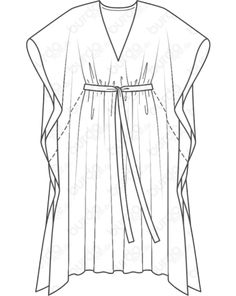 Schnittmuster Kaftan - Another! Dress Sewing Patterns, Clothing Patterns, Pattern Sewing, Sewing Clothes, Diy Clothes, Kaftan Pattern, Kaftan Designs, Mode Kimono, Flat Sketches