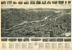 Historic view of the city of Ansonia, from a time when it bustled with industry