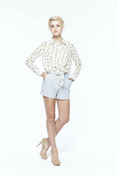 paper crown: port blouse + jib shorts