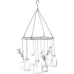 Brimming with homespun charm, these hanging vases display lush blooms in country style.  Product: Hanging vasesConst...