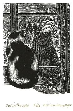 Miriam Macgregor ~ Out in the Cold ~ Wood Engraving