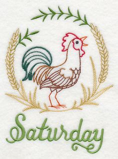 Image by EMBROIDERY LIBRARY INC - Country Chicken on Saturday (Vintage)