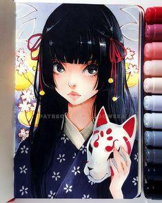 By Asia Ladowska Amazing Drawings, Cute Drawings, Amazing Art, Copic Marker Art, Copic Art, Manga Drawing, Manga Art, Anime Art, Arte Copic