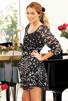 Lauren Conrad Bow Sleeve Dress
