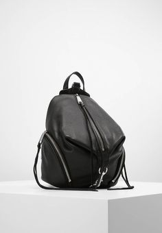 """Rebecca Minkoff. JULIAN PEBBLED - Rucksack - black. Fastening:Zip. Compartments:mobile phone pocket. length:8.5 """" (Size One Size). width:4.5 """" (Size One Size). Lining:textile. carrying handle:2.0 """" (Size One Size). Outer material:leather. height:9.5..."""