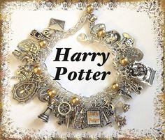 Harry Potter Jewelry Charm Bracelet Silver by princessofscraps, $35.99