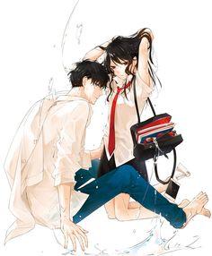 Manga: Tsuiraku Jk To Hajin Kyoushi Anime Cupples, Anime Angel, Anime Kawaii, Anime Siblings, Anime Couples Manga, Manga Couple, Anime Love Couple, Manhwa, Cute Anime Coupes