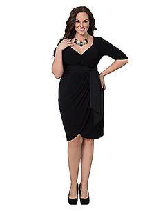 Harlow faux wrap dress by Kiyonna | Lane Bryant