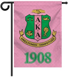 Garden Yard Flag or House Flag Banner - Alpha Kappa Alpha Sorority