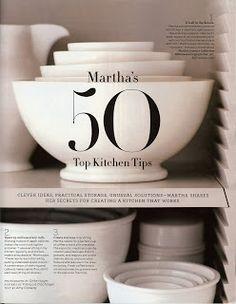 Martha Stewart's 50 Top Kitchen Tips