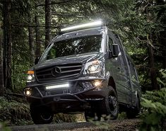 Outside Van Awesome Awe 1 Van Conversion Build, Sprinter Van Conversion, Camper Conversion, Mercedes Sprinter Camper, Sprinter Rv, Camper Caravan, Camper Life, Offroad, Mercedes Van