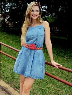 look vestido jeans - Pesquisa Google