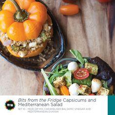 Capsicums and Mediterannian Salad Recipe Card Front